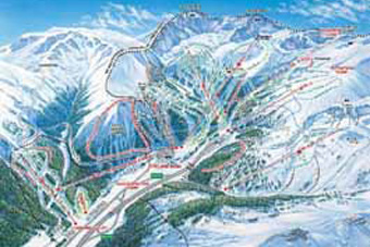 Ski Area Colorado Map.Resort Trail Maps Town Information
