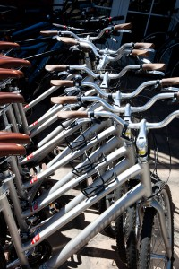 We have a fleet of complimentary bicycles for our guests use to pedal around Frisco