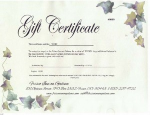 Hotel gift certificate template free